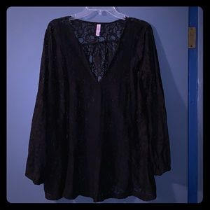 Lacy See-Through Blouse